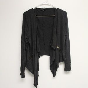 Forever 21 Plus gray zipper cardigan